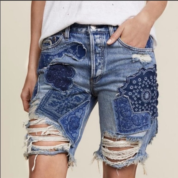 Free People Pants - Free People Heartbreaker Distressed Denim Shorts
